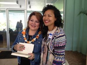 Lois Ann with fan
