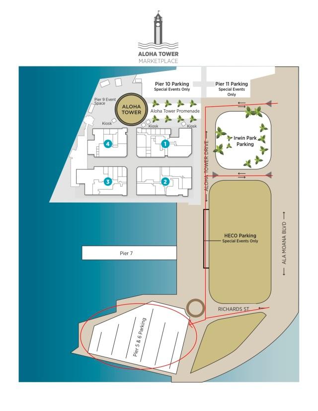 Pier 5-6 Parking Map